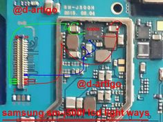 Mobile Phone PCB Diagram with Parts Electronics