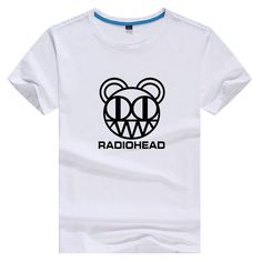 Rock Music Radiohead High Quality Cotton Tee White Short Sleeve Tshirt Women Tee Harajuku T Shirts 2017 Streetwear #Affiliate