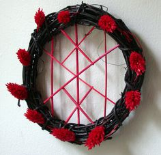 Bindrune of Home Protection Wreath by ArtLoDesigns on DeviantArt Wreath Crafts, Diy Wreath, Diy Crafts, Wreath Ideas, Wiccan, Wicca Witchcraft, Magick, Rune Symbols, Pagan Art