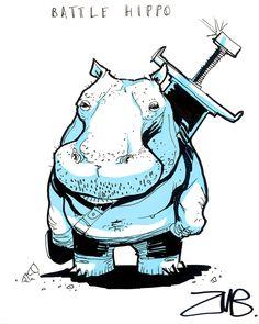 Gen Con- Battle Hippo by Zubby.deviantart.com on @DeviantArt