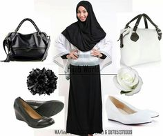 Jilbab instan modern hana J-HN-B warna hitam, sms center 08563193913