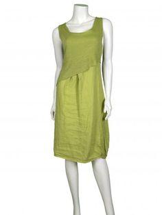Leinenkleid aus Italien, grün - www.meinkleidchen.de