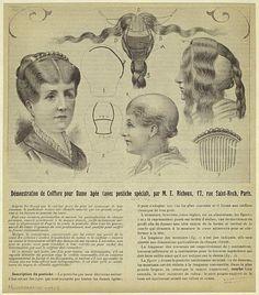 Hair style 1910s, hair-do, hair-dress, coiffure, chignon, женские прически 1910-х годов, шиньон