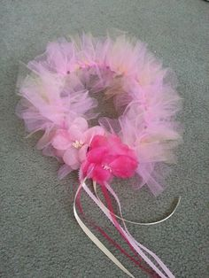 Woodland Fairy Halo-I would do this 4 laney Tulle Crafts, Fairy Crafts, Tulle Projects, Fairy Crown, Flower Crown, Fairy Birthday Party, Girl Birthday, Birthday Tutu, Fairy Wands