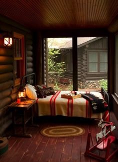 A screened sleeping porch would be lovely for those muggy summer nights.