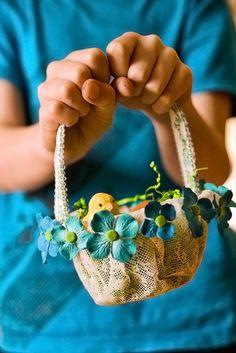 Lacy Flower Basket
