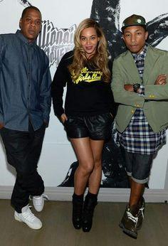 Beyonce,jay-z & parell