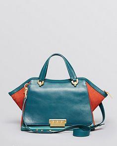 ZAC Zac Posen Satchel - Eartha Soft Double Handle Colorblock Handbags - All Handbags & Wallets - Bloomingdale's Beautiful Handbags, Beautiful Shoes, Zac Posen, Color Blocking, Purses And Bags, Fashion Beauty, Personal Style, Handle, Style Inspiration