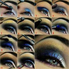 Tutorial de maquiagem noturna Blue Eye