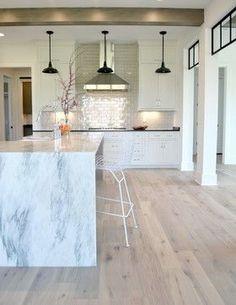 Modern Farmhouse farmhouse-kitchen. UA Olde Charleston Hickory floors in Beachfront.