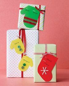 Mitten & Stocking Clip Art Tags Martha Stewart Holidays