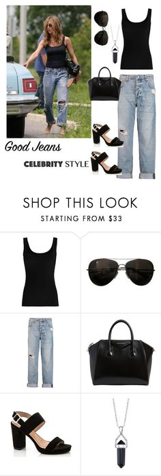 """""""jennifer anniston/distressed denim"""" by im-karla-with-a-k ❤ liked on Polyvore featuring Twenty, Tod's, McQ by Alexander McQueen, Givenchy, Lady Godiva and Bridge Jewelry"""