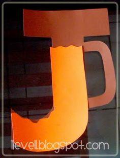 J Jug Of Juice Orange Alphabet Letter Crafts Abc Preschool