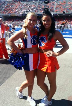 Cheerleaders for the Boise State Broncos 2012