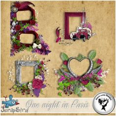 One night in Paris - Clusters by Black Lady Designs