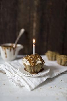 Happy Birthday banoffee muffins. YUMMY! (GF & DF)