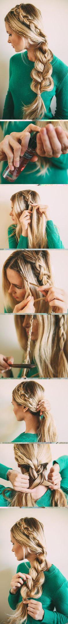 Atrévete a jugar con tu pelo e inspírate con estos tres bellos peinados para esta temporada primavera-verano. ¡Sigue los pasos! ¿Cuál es tu preferido? ¡Déjanos un comentario al final del post! 1 Renueva la clásica cola de caballo. Este es un peinado cómodo pero lleno de detalles que lo hacen único. 2 Esta trenza princesa…