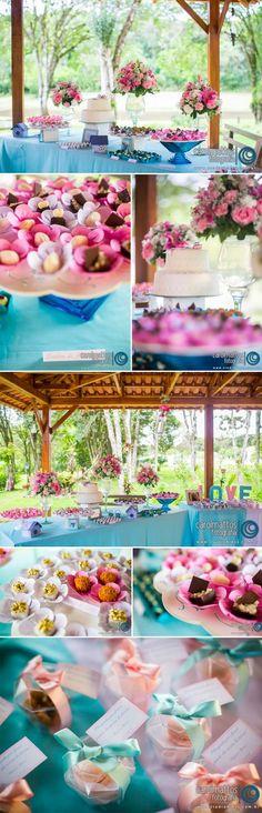 decoraçao azul/rosa