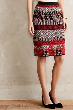 Calea Tapestry Pencil Skirt - anthropologie.com #anthrofave