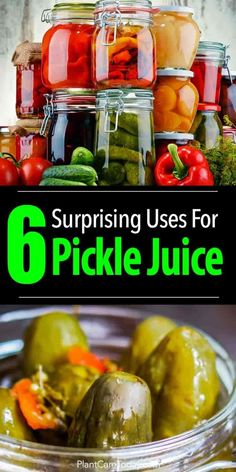 Most people think of pickle juice as a throwaway leftover product, but it can help with constipation, upset stomach, and other items [LEARN MORE] Pickle Juice Recipe, Pickle Juice Uses, Healthy Life, Healthy Eating, Canning Pickles, Canning Recipes, Juicer Recipes, Fermented Foods, Food Hacks
