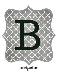 Free Printable Letters Gray and Black