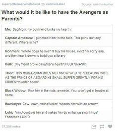 Avengers as parents
