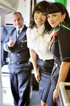 Pretty Stewardesses of Malév Hungarian Airlines