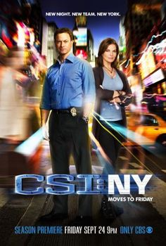 CSI New York~ MIRO telenovelas policiacas el fin de semana. ME GUSTAN las series de CSI.