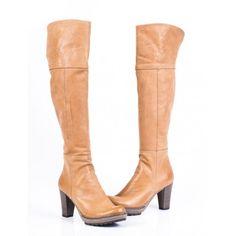 Dámske čižmy z prírodnej kože bežové - manozo. Knee Boots, Heeled Boots, Heels, Fashion, High Heel Boots, Heel, Moda, Heel Boots, Fashion Styles