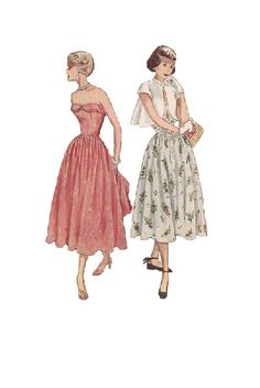 1950s Simplicity Sewing Pattern Vintage Tea by AdeleBeeAnnPatterns, $30.00