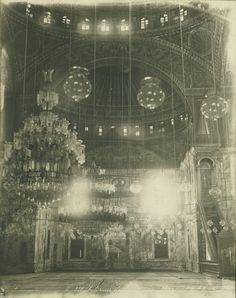Title: Interior, Mosque of Mohammed Ali  Photographer: Zangaki  Time Period: Modern Period (A.D. 1857)