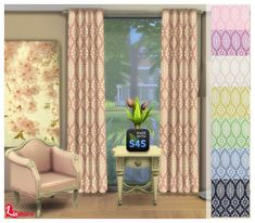 Lintharas Sims 4: Curtains and Paintings • Sims 4 Downloads