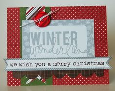 Winter Wonderland Card from Very Merry Christmas Collection. #echoparkpaper