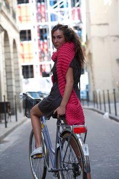 Bicycle babe #dress