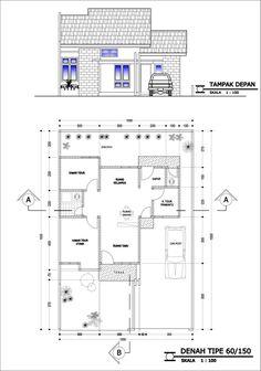 desain rumah: desain rumah minimalis type 45 | casa baixa