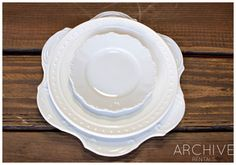 Archive Rentals Vintage White China