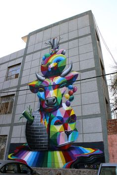 What a wonderful way to decorate a building.  OKUDA