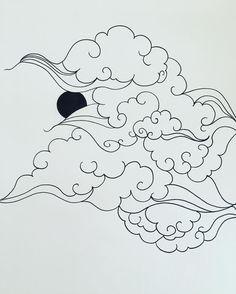 Japanese clouds - new Inspo #graphicbyd #ink #minimalist #minimalistart #artwork #art #perspective #tattoodesign #tattoo #tattoocloud #japaneseclouds #linework #linework #japanesestyle #inprogress #illustration #drawing #iblackwork