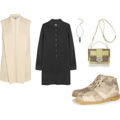 A fashion look from June 2014 featuring long shirt dress, pink jacket and brown booties. Browse and shop related looks. Net A Porter, Shoe Bag, Polyvore, Stuff To Buy, Shopping, Collection, Shoes, Design, Women