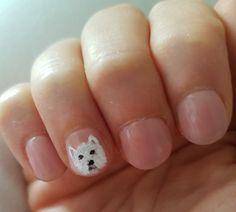 Westie nails art