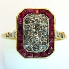 Ruby Rings, Or, Bling, Jewels, Vintage, Fashion, Gems, Antique Jewelry, Moda