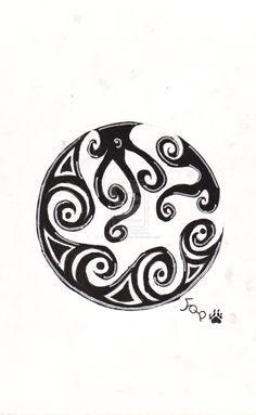Tribal Moon by ~Forest-Quick-Paw on deviantART