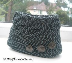 Christian!  Hand Sewn Coiled Braided  Rope Trinket Pot £10.00