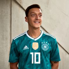 5af2af10c The first green Germany away jersey since Euro the Germany 2018 World Cup  away kit draws inspiration from when West Germany s players held their  nerve to ...