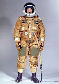 Space Shuttle - launch and re-entry suit - John Young.  Note - it's similar in appearence to the U2 high altitude suit