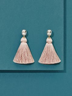 We're celebrating 7 years! Get our must-have mini tassels with an exclusive and limited edition jewelled top. We love that they're lightweight and comfortable, making them ideal for all day wear. Tassel Earrings, Drop Earrings, Breast Cancer Awareness, Sorbet, Tassels, Jewels, My Style, Mini, Gold