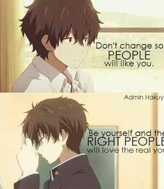 Find images and videos about quotes, anime and hyouka on We Heart It - the app to get lost in what you love. Me Anime, Anime Life, Anime Boys, Manga Anime, Manga Eyes, Sad Anime Quotes, Manga Quotes, True Quotes, Kawaii Quotes