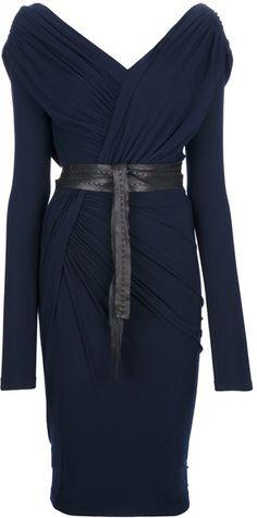 Belted Wrap Dress - Lyst