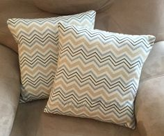 Check out this item in my Etsy shop https://www.etsy.com/listing/500475847/decorative-throw-pillows-chevron