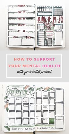 How I Use My Bullet Journal for Mental Health as a College Student #bulletjournal